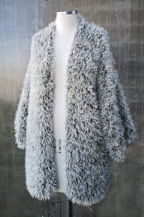 Kimono Handmade Pelúcia - OFF/VERDE
