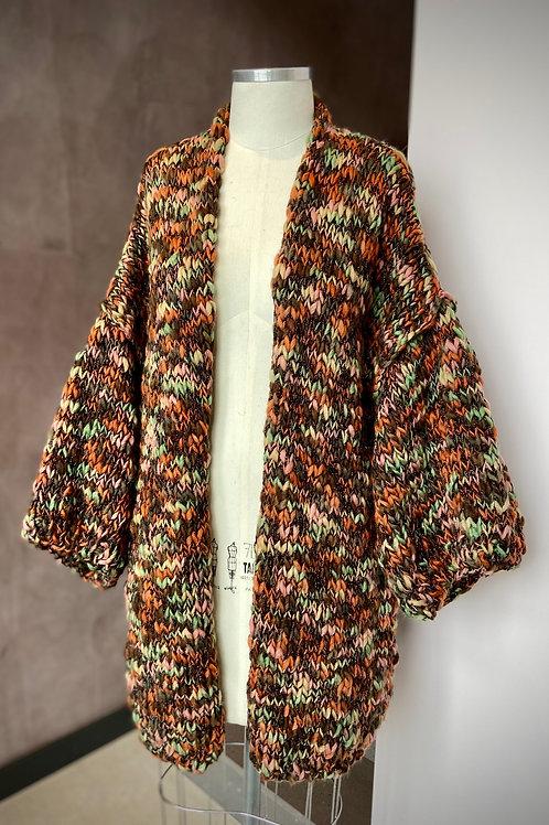 Kimono Handmade Mescla - telha / marrom