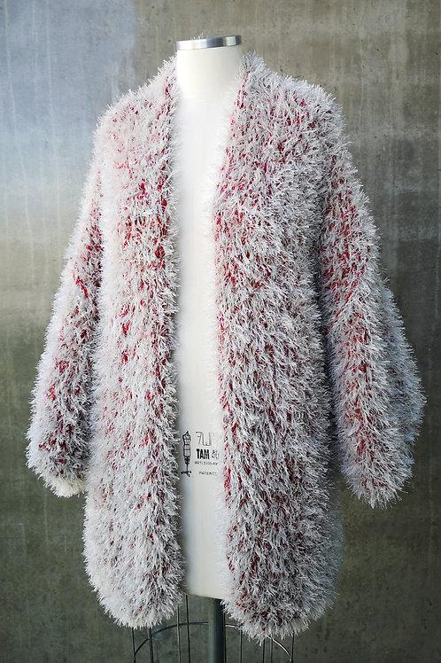 Kimono Handmade pelúcia - OFF/VERMELHO