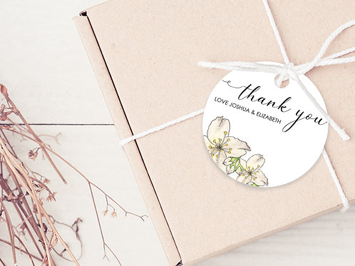 PERSONALISED GIFT TAGS --- Floral Thank you's