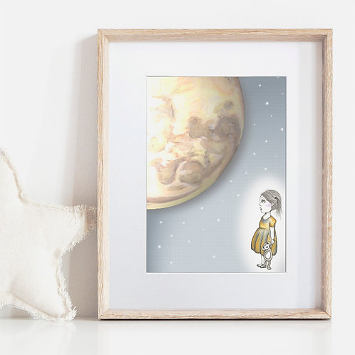 FRAMED or UNFRAMED --- Wonder Moon