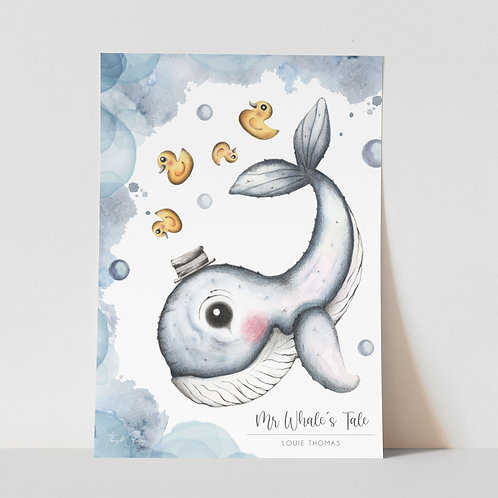 UNFRAMED --- Mr Whale's Tale I Art Print