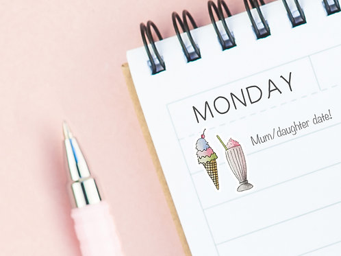 PLANNER STICKERS --- Ice-cream & Sundae's
