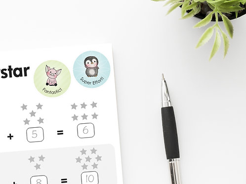 MERIT STICKERS --- Sweet Animal Collection