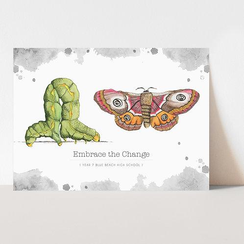 UNFRAMED --- Butterfly Inspire Resilience Art Print