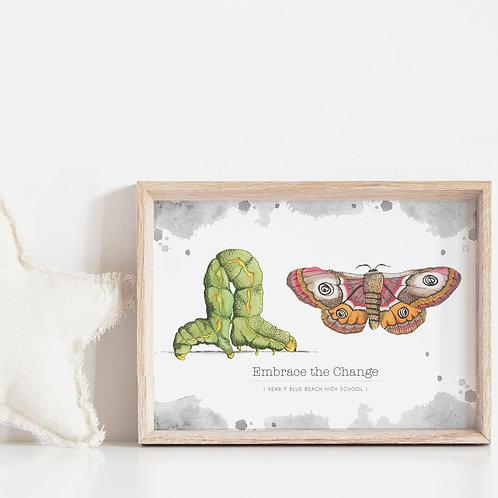FRAMED --- Butterfly Inspire Resilience Artwork