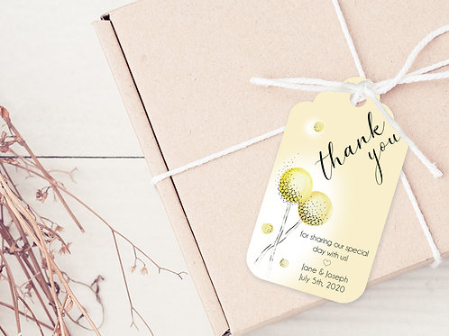 PERSONALISED GIFT TAGS --- Wedding Thank you's