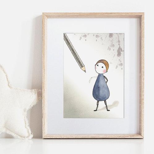 FRAMED or UNFRAMED --- Annie in Sketch
