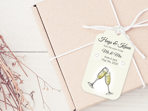 PERSONALISED GIFT TAGS --- Engagement Party Thank you's (pkt 30)