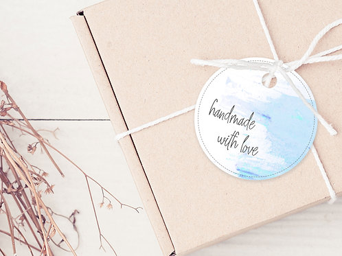 GIFT TAGS --- Handmade with Love (pkt 30)