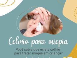 COLÍRIO PARA MIOPIA - existe tratamento para miopia?
