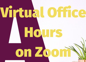 Virtual Office Hours on Zoom Only Today, June 30th