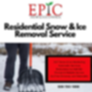 Residential, Snow & Ice Removal Service.