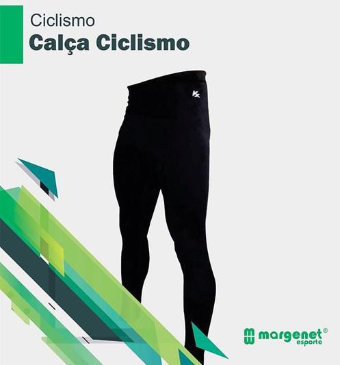 bc3119e8206 Calça Ciclismo JET Power Coolmax forro, zíper nas pernas, bolso lateral