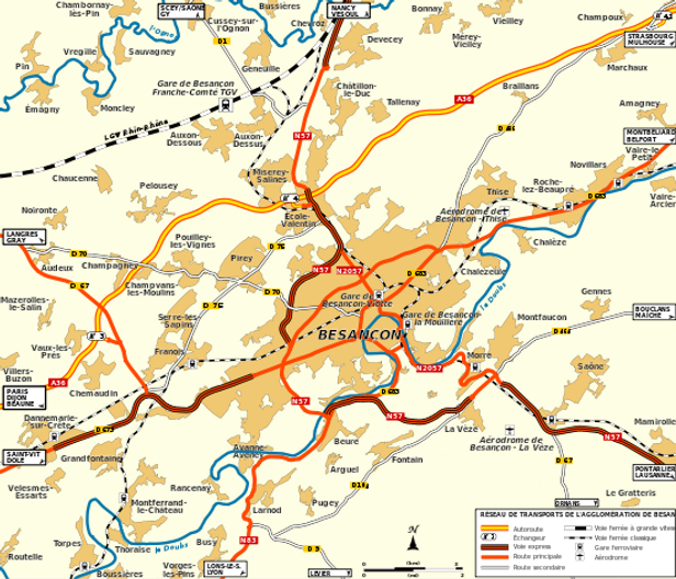 Besançon et allentours