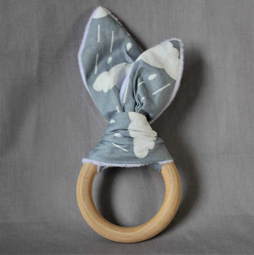 Cloud Fabric Teether Ring