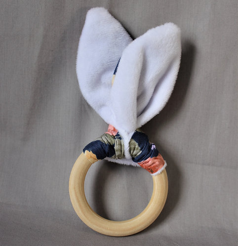 Peony Fabric Teether Ring