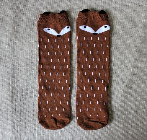 Brown Animal Socks