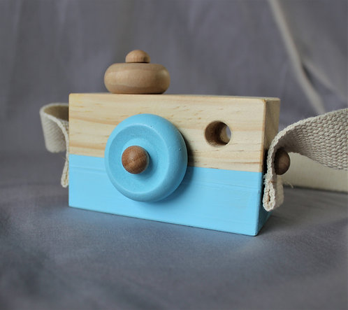 Wooden Camera in Blue