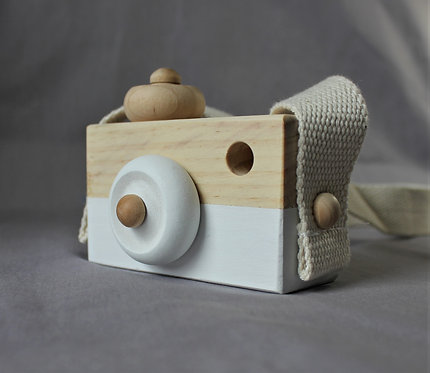 Wooden Camera in White
