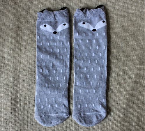 Grey Animal Socks