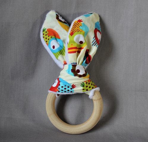 Owl Fabric Teether Ring