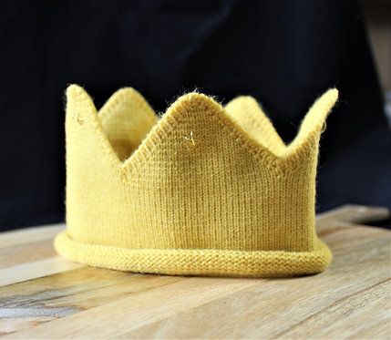 Gold Knitted Crown