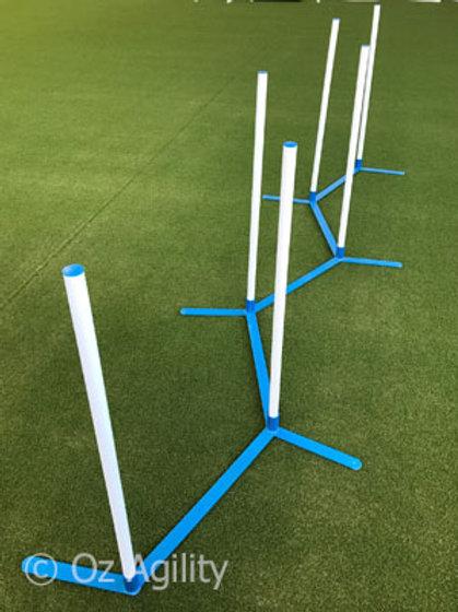 Agility Weave Set (6 poles with PVC base)