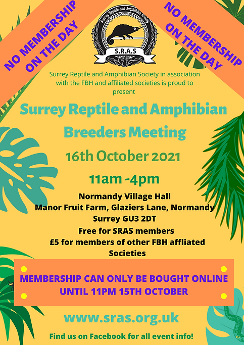 Surrey Reptile and Amphibian Society in association with the FBH and affiliated societies