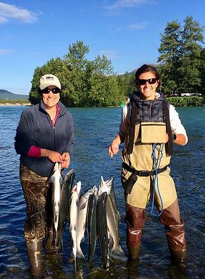July Salmon fishng on the Kenai