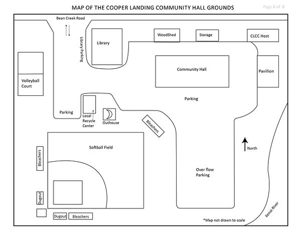 Map of the Communty Hall Grounds