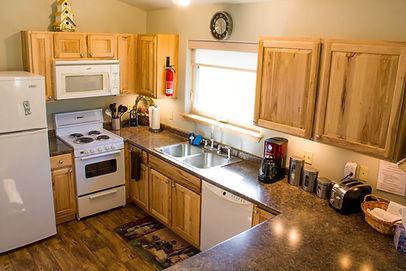 The Hutch's Cabin's Kitchen