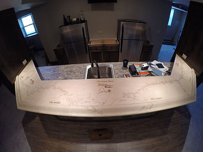 Custom made Kenai River Counter Top