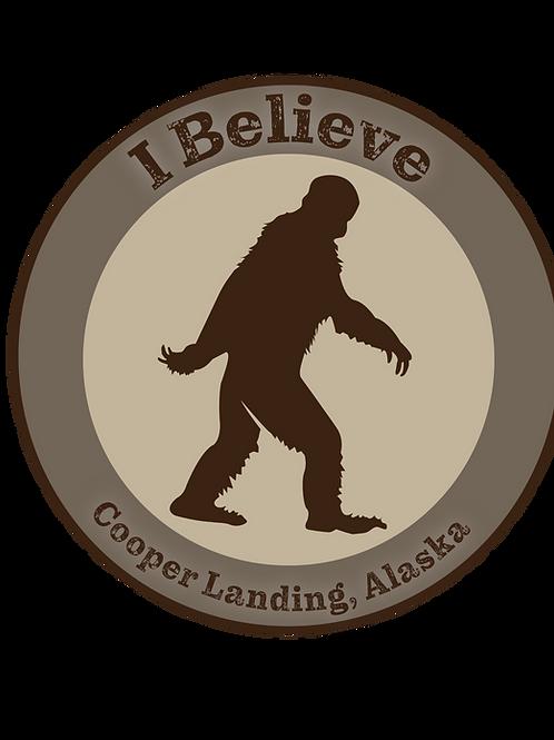 Round Sasquatch Sticker