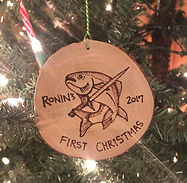 Woodburned Christmas Ornament