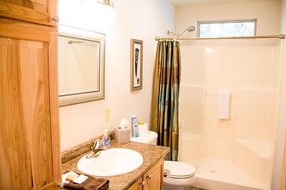 Cabin's Full Bathroom