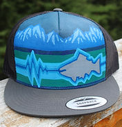 Hand-painted Alaska themed hat