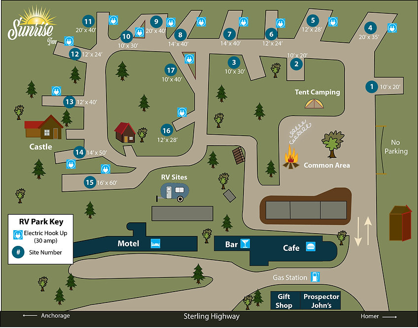 Sunrise Inn RV Map