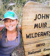 Custom Painted hat visiting John Muir Wilderness