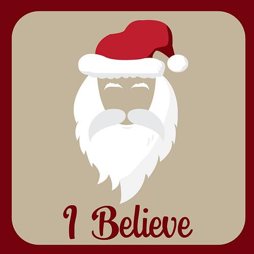 I Believe Santa Sticker