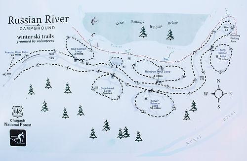 Russian River Ski Map