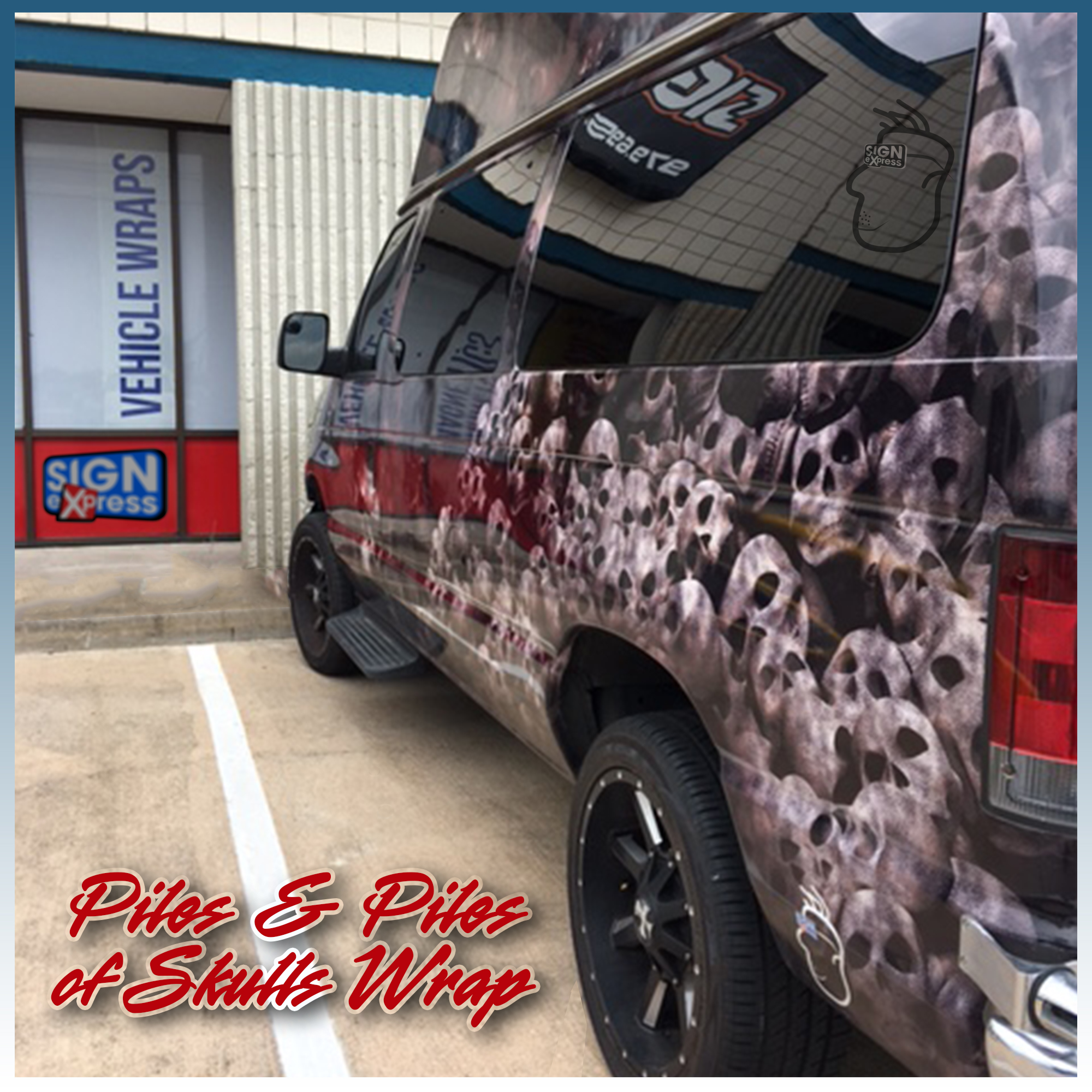 Skulls wrap by Sign Express