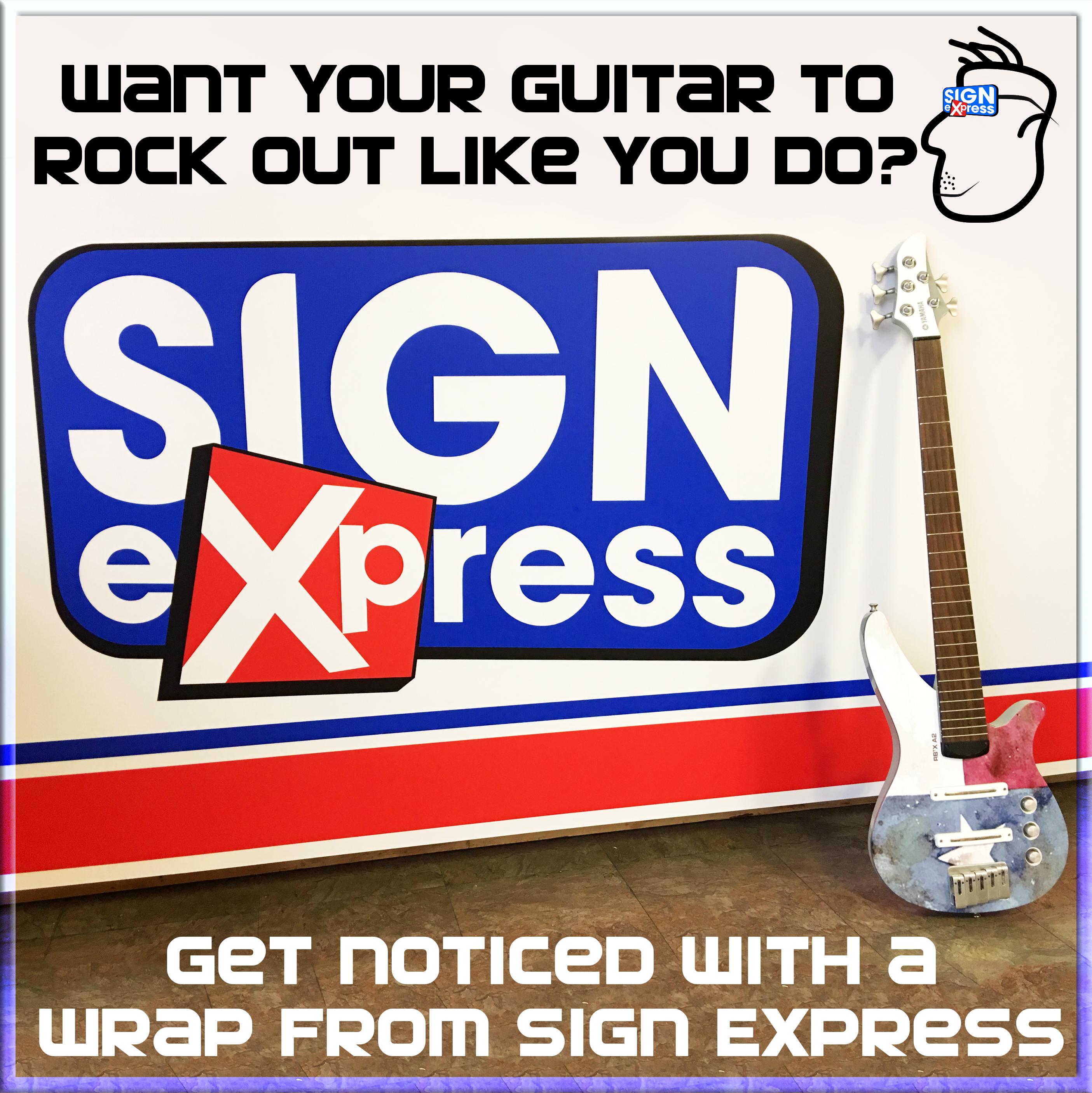 Bass Guitar Wrap by Sign Express