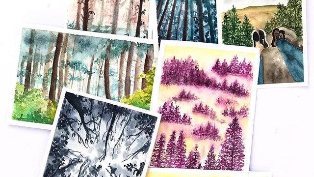 Set of 7 Postcards