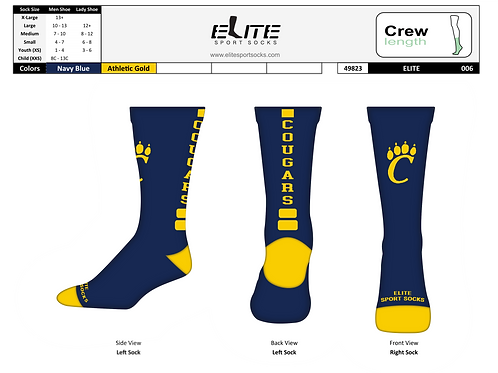 Elite Sport Socks -Crew