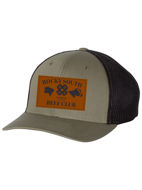 Rocky South Beef Club Hat w Leather Patch