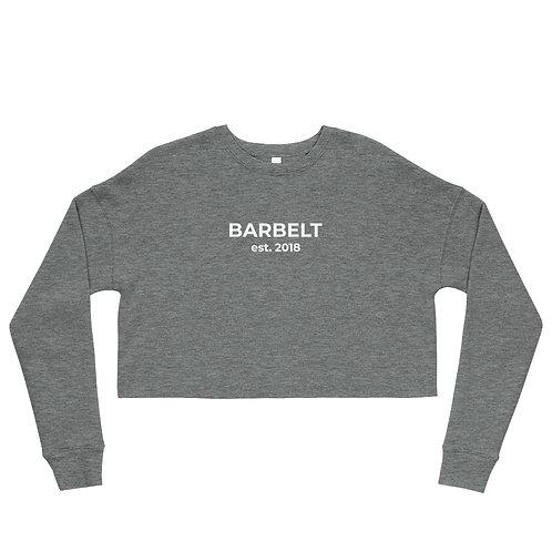 Barbelt Est. 2018 - Crop Sweatshirt