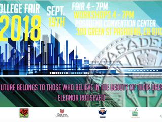 College Fair @ the Pasadena Convention Center | Wednesday, September 19