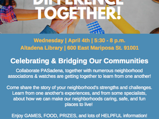 Let's Make a Difference Together! | April 4th