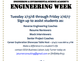 You're Invited to participate in John Muir's Engineering Week! | February 13-16